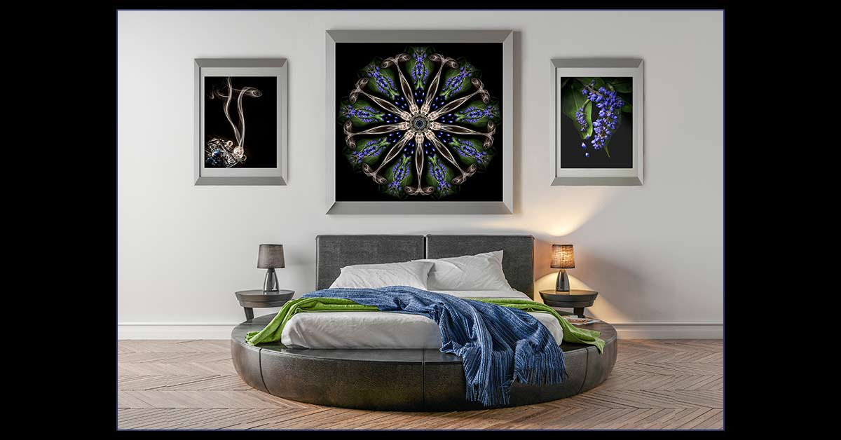 Fine Art Photography for a Bedroom: Study in Blue
