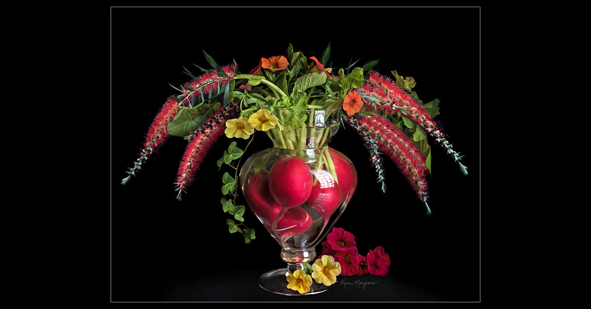 """Radish Bouquet"" ~ Fine Art Botanical Photography"