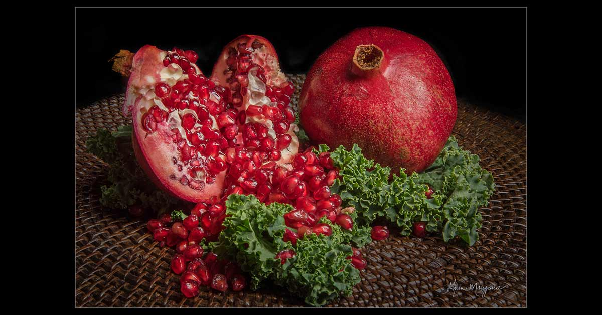 """Pomegranate 1.5"" Fine Art Food Photography"