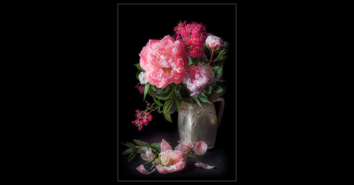 Peonies in a Pitcher